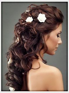 mother of the bride hairstyles half up | down-wedding-hairstyles-with-flowers1