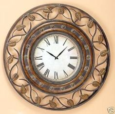 Wrought iron clock