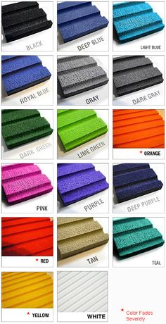 PWC Mat Kit Solid Colors
