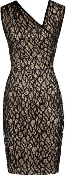 REISS ENGLAND   Alma Gathered Lace Dress - Lyst