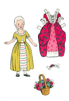 American Folks paper doll / looks like Martha Washington