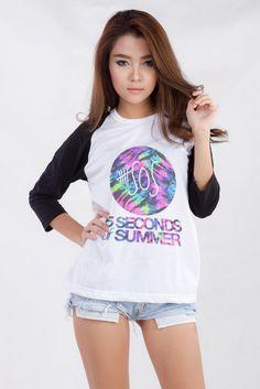 21de4872e23 5SOS 5 Seconds of Summer Tie Dye Teen Women Fashion Clothing Hipster  Fashion