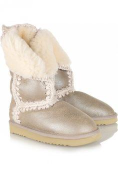 Metallic leather boots 2012