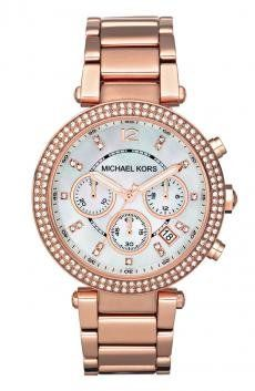 I'm learning all about Michael Kors 'Parker' Chronograph Bracelet Watch Rose Gold at @Influenster!