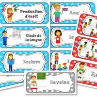 Etiquettes pour l'emploi du temps de la journée Classroom Setting, Classroom Displays, School Classroom, School Organisation, Classroom Organization, Classroom Management, Schedule Board, Kids Schedule, Teaching Letters