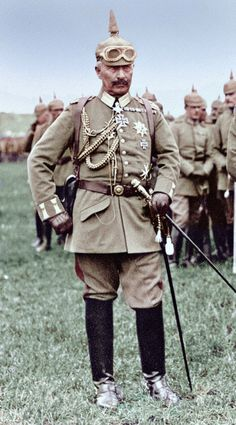 Kaiser Wilhelm II observing a Military Maneuver in July 1917
