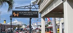 Island Dogs Bar in Key West. Great mojitos and casual open-air vibe.