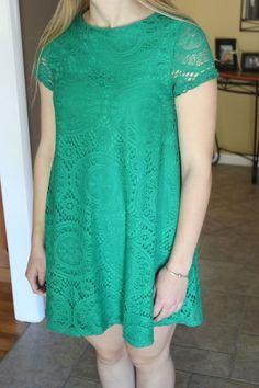 Emerald Green Lace Dress | eBay
