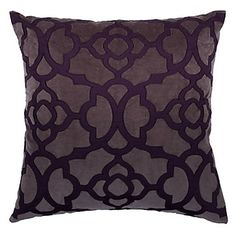 Luxurious texture on this Aubergine/Charcoal Benito Pillow, $69.95 #ZGallerie