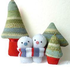 Lindo y acogedor de punto Decorations_60 Navidad