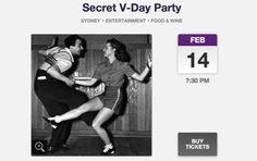 Secret V-Day Party  Secret single mingle event | Everguide Fri 14 February 7:30 PM Start @ Secret location!