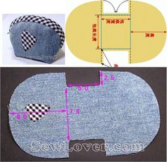 Best 12 We sew a cosmetic bag – SkillOfKing. Small Sewing Projects, Sewing For Kids, Sewing Hacks, Sewing Art, Sewing Crafts, Diy Bags Purses, Hand Embroidery Videos, Wallet Pattern, Fabric Bags