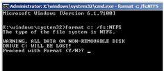 UIt het DOS tijdperk Format: C