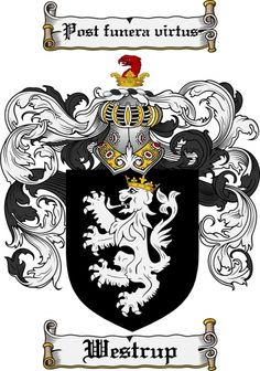 Westrup Coat of Arms Westrup Family Crest Instant Download - for sale, $7.99 at Scubbly