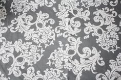 Ready to ShipGray Elegance Damask and Minky by DesignsbyChristyS, $25.00