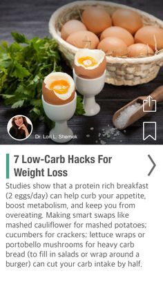 7 Low-Carb Hacks For Weight Loss - via @CureJoy