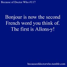 Although, I think that's technically two words. Allons = we go, Y = there. Translation: Let's go!