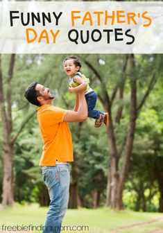 10 Funny Father's Day Quotes - Want a good laugh at dad's expense? These funny Father's Day quotes are guaranteed to deliver. Fathers Day Crafts, Happy Fathers Day, Mother And Father, Birth Mother, Mothers, Funny Fathers Day Quotes, Father's Day Activities, Father's Day Celebration, Laughter The Best Medicine