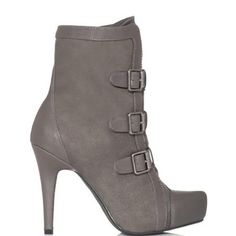 Ashlea - Grey by JustFab, heels.com