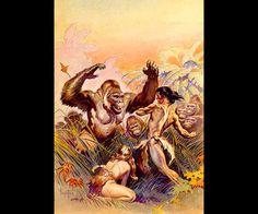 """Ilustración """"Son of Tarzan"""" de Frank Frazetta."""