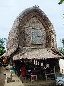 triditional Sasak rice barn in the village of Sade, Lombok