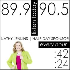 Catch Kathy Jenkins @PositiveHitsPER today, September 12th on the :24 and :42 as she sponsors a half-day @PositiveHitsPER. #ComeToOrder #KathyJenkins