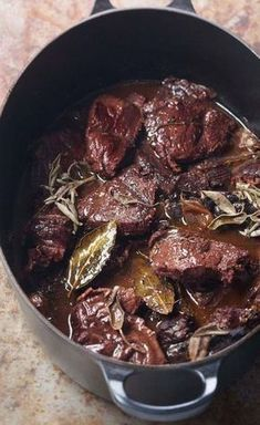 Stewed beef stew with sage - Mes Recettes de cuisine - Meat Recipes Grilling Recipes, Meat Recipes, Healthy Dinner Recipes, Cooking Recipes, Guisado, Health Dinner, Easy Cooking, No Cook Meals, Love Food
