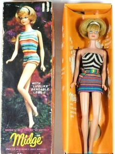 Midge doll- mine was a redhead
