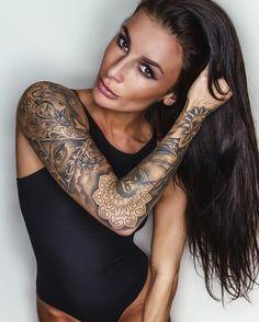 Very very pretty tattoo model Georgina