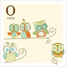 Free Printable Alphabet Cards for Decor. This owl lover blog has lots of cute owl printables.