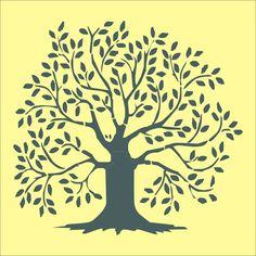 Stencil tree leaves
