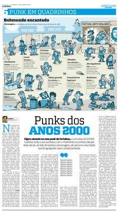 Matéria sobre o movimento PUNK em Fortaleza (CE) nos anos 2000