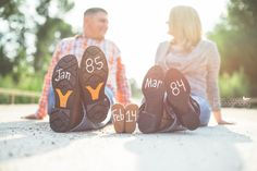 Pregnancy announcement ++ www.maesmallphotography.com