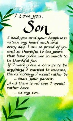 I Love You Son Quotes Quote Facebook Mother