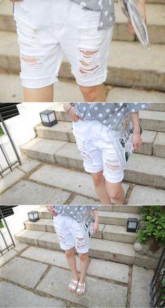 [슈가펀]코튼빈티지5부배기팬츠 cotton vintage 5 length baggy pants / 5부배기팬츠 화이트빈티지배기팬츠 루즈핏팬츠 빈티지 화이트배기 캐쥬얼룩 데일리룩 : 슈가펀