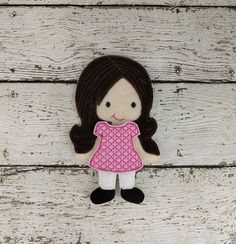 This listing is for one Amelia doll with her dress.  Do you remember playing with paper dolls when you were growing up? This treasured concept is renewed in our Line of Non Paper Dolls! Each piece is made of felt on front and back.
