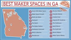 The best maker spaces in Georgia.