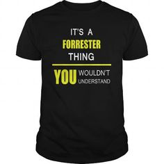 Cool FORRESTER name tee shirts T shirts