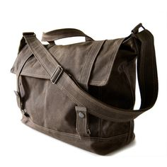 Messenger no.3 in waxed canvas. Moopshop.com. Can't stop thinking about the Seinfeld episode....