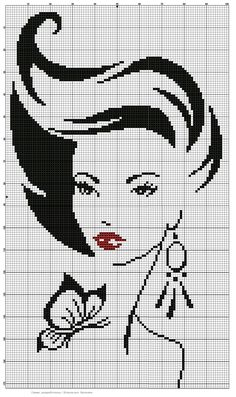 Xmas Cross Stitch, Cross Stitch Love, Cross Stitch Charts, Cross Stitch Designs, Cross Stitching, Cross Stitch Patterns, Blackwork Embroidery, Cross Stitch Embroidery, Cross Stitch Silhouette