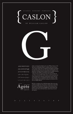 Caslon Typography Poster - Shannon Edgar