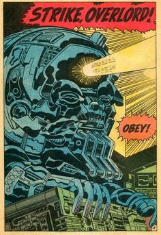 Comic panel by Jack Kirby