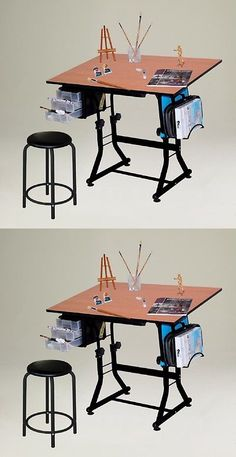 Charmant Drawing Boards And Tables 183083: Drafting Table With Stool Adjustable  Drawing Art Desk Hobby Craft