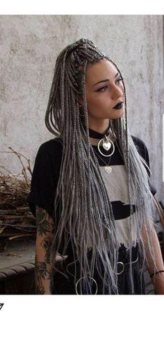 White Girl Braids, Gangster Girl, Small Braids, White Girls, Hair Ideas, Dreadlocks, Hair Styles, Beauty, Tibetan Art