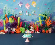 Baby shark Cake Smash #babyshark #babysharkparty #babysharkbirthday #firstbirthday #sitter #babyphotography #cakesmashphotography #cakesmash #shark #blue #pinkfong #amiraphotographymn #photography #babysharkcake #babysharkdoodoo Happy Birthday Kids, Twin Birthday, 2nd Birthday Parties, Birthday Ideas, Boy Birthday Pictures, Under The Sea Decorations, Shark Photos, Baby Shark Doo Doo, Shark Cake