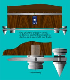 My CAD drawings of base with all support details. Speaker Amplifier, Hifi Speakers, Speaker Stands, Built In Speakers, Hifi Audio, Home Cinema Room, Audio Rack, Box Building, Speaker Design