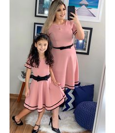 s Clothing Children' Mommy Daughter Dresses, Mother Daughter Matching Outfits, Mother Daughter Fashion, Mommy And Me Outfits, Classy Outfits, Kids Outfits, Frocks For Girls, Little Girl Dresses, Girls Dresses