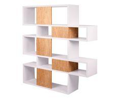 Libreria con 14 scomparti Units bianco/naturale