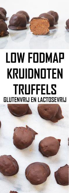 Heb je kruidnoten over? Maak dan deze heerlijke kruidnoten truffels! Low FODMAP, glutenvrij en lactosevrij