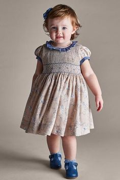 Browse the stunning range of baby girl dresses from Pepa & Co. With a timeless style, our clothes are as beautiful as they are practical with delicate detailing and hand-smocking. Toddler Girl Style, Toddler Girl Outfits, Toddler Fashion, Kids Outfits, Toddler Girls, Toddler Hair, Hair Kids, Fashion Kids, Vintage Kids Fashion